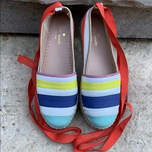 Kate Spade Tie Up Slip On Shoes Sz 6 M